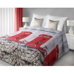 Narzuta dekoracyjna Ville stalowa czerwona EUROFIRANY rozmiar 170x210 cm