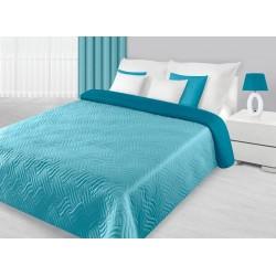 Narzuta dekoracyjna Fala 04 niebieska turkusowa EUROFIRANY rozmiar 170x210 cm