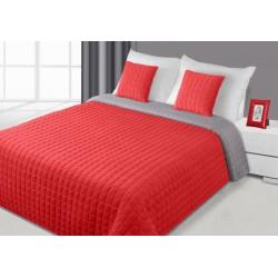 Narzuta dekoracyjna Paula czerwona szara EUROFIRANY rozmiar 170x210 cm