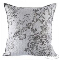 Poszewka dekoracyjna Delia biała srebrna EUROFIRANY rozmiar 40x40 cm