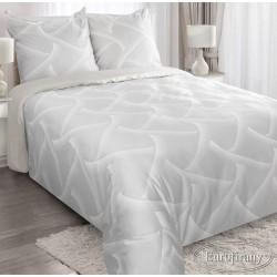 Pościel Satynowa Demi srebrna biała EUROFIRANY 160x200 cm