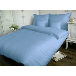 Pościel Satynowa jednobarwna niebieska 009 DARYMEX 160x200 cm