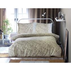 Pościel Satynowa Ashen 1 beżowa fuksja Luxury DARYMEX rozmiar 160x200 cm