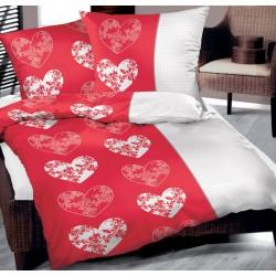 Pościel Bawełniana Love me czerwona BIELBAW rozmiar 140x200 cm