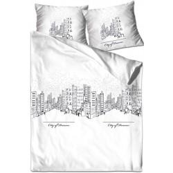 Pościel satynowa City Of Dreams biały GRENO XQ rozmiar 140x200 cm