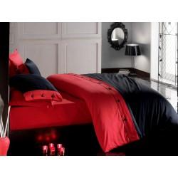 Pościel satynowa Cotton Box jednobarwna czerwona 003 FARO rozmiar 160x200 cm