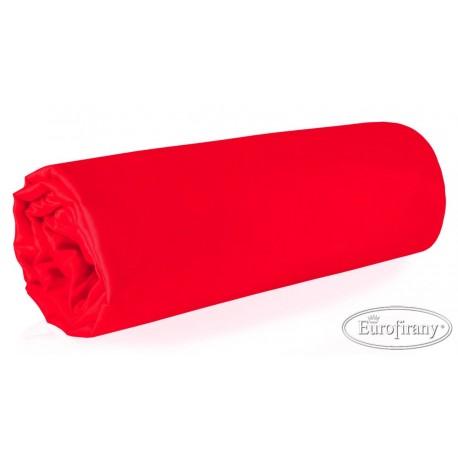 Prześcieradło satynowe Nova czerwone EUROFIRANY rozmiar 160x210 cm
