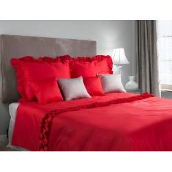Pościel satynowa Romantica czerwona EUROFIRANY rozmiar 160x200 cm