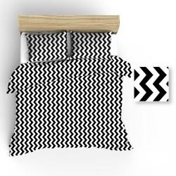 Pościel bawełniana R018 czarno biała BRITANNICA 160x200 cm
