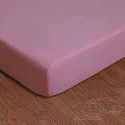 Prześcieradło dziecięce jersey z gumką różowe 005 DARYMEX 60x120 cm