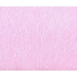 Prześcieradło dziecięce frotte z gumką rozmiar 70x140 różowe jasne 018