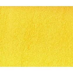Prześcieradło dziecięce frotte z gumką rozmiar 60x120 żółte 005