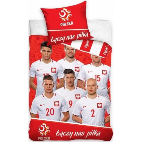 Pościel Reprezentacja Polski 097 CARBOTEX rozmiar 160x200 cm
