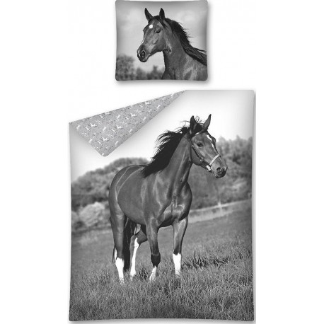 Pościel dziecięca Koń 160 DETEXPOL rozmiar 160x200 cm