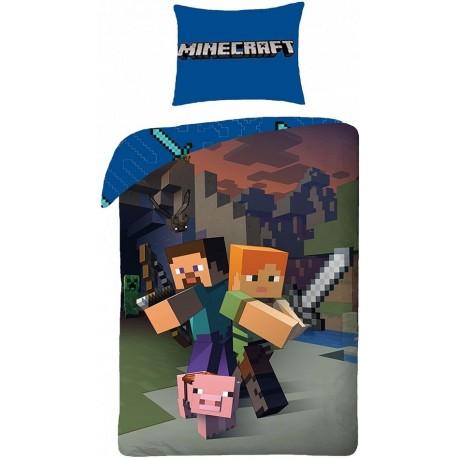 Pościel dziecięca Minecraft 068 HALANTEX rozmiar 140x200 cm