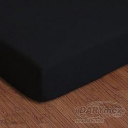 Prześcieradło jersey z gumką czarne 027 DARYMEX rozmiar 90x200 cm