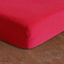 Prześcieradło jersey z gumką czerwone 029 DARYMEX rozmiar 90x200 cm