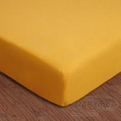 Prześcieradło jersey z gumką żółte 004 DARYMEX rozmiar 90x200 cm