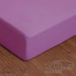 Prześcieradło jersey z gumką fioletowe jasne 040 DARYMEX rozmiar 90x200 cm