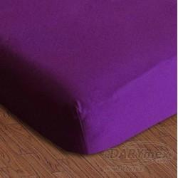 Prześcieradło jersey z gumką fioletowe 031 DARYMEX rozmiar 90x200 cm