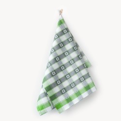 Ścierka do naczyń Czapla Margaretka zielono szara ZWOLTEX rozmiar 50x70 cm